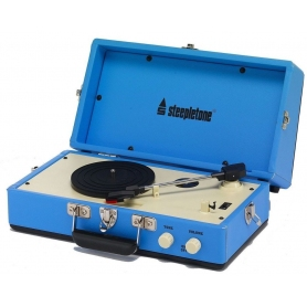 Steepletone 'Retro' Mini Vinyl Turntable Blue